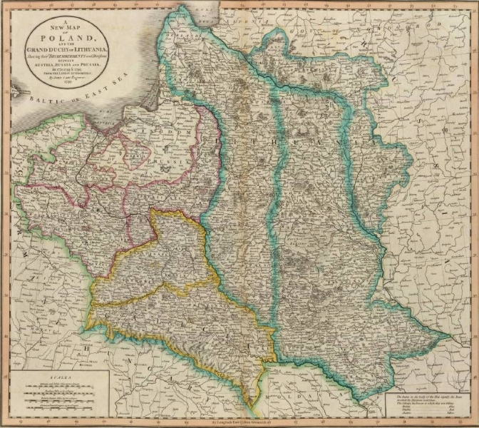 Map of Poland, 1799