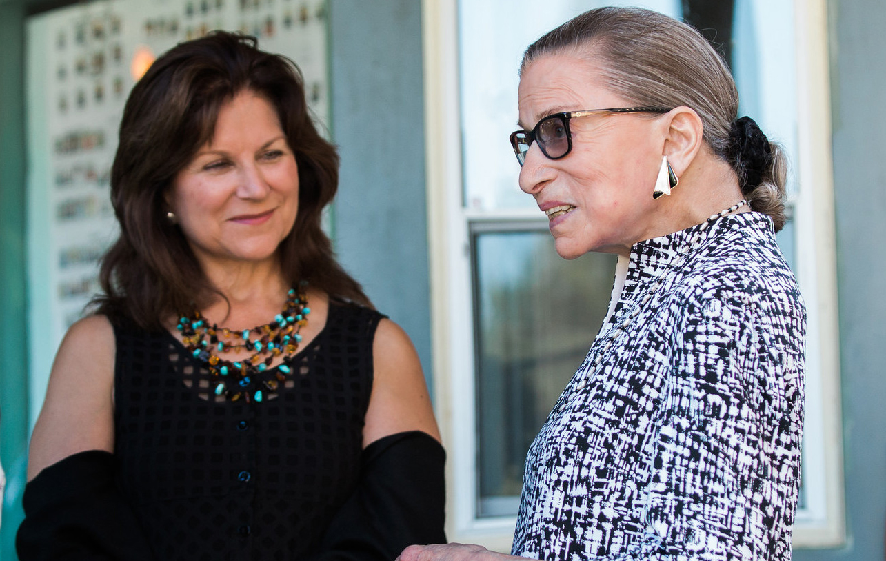 Patrice Michaels and Justice Ruth Bader Ginsburg. Photo by Karli Cading.